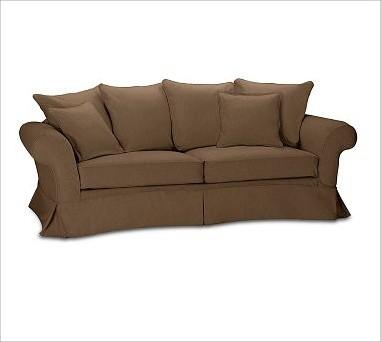 Charleston Slipcovered Roll-Arm Grand Sofa, Polyester Wrap Cushions, everydaysue traditional-sofas