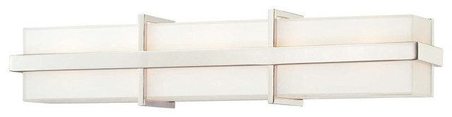 George Kovacs by Minka P5885-613 5-Light Bath Light - Polished Nickel - 25.25W i modern bathroom lighting and vanity lighting