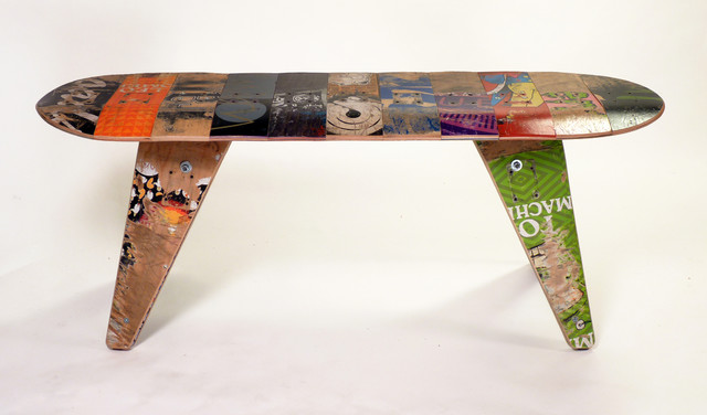 deckbench recycled skateboard bench contemporary