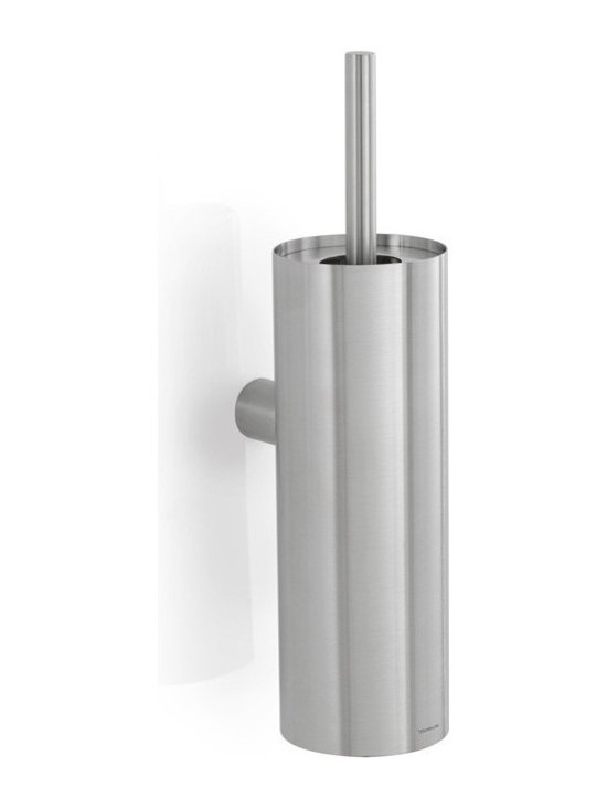 Blomus - Duo Toilet Brush  Matte, Wall Mounted - Stainless steel. Available with a matte finish and a choice of stand alone or wall mountable.