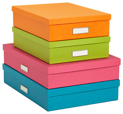 Bright stockholm office storage boxes modern desk accessories - Container store home office ...