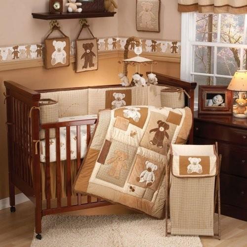 Eddie Bauer Teddy Bear 4 Piece Crib Bedding Set Traditional Baby Bedding By Hayneedle