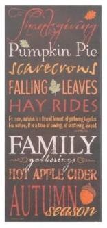 Autumn Season Canvas Typography Print contemporary-holiday-decorations