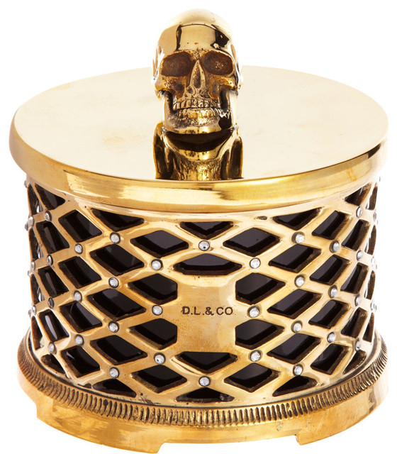 D.L. & Co. Skull Cased Candle eclectic-candles