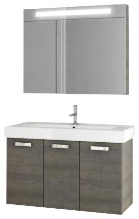 37 inch grey oak bathroom vanity set modern bathroom