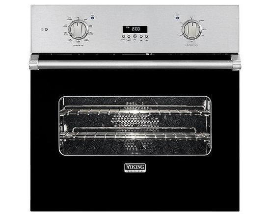 "Viking 30"" Single Electric Wall Oven, Black | VESO1302BK - 4.7 CU FT SELF CLEAN OVEN"