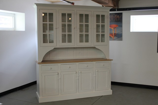 White farmhouse hutch from reclaimed wood - Farmhouse - China Cabinets And Hutches - boston - by ...