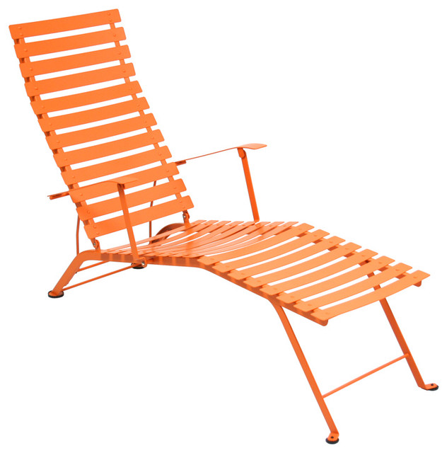 Fermob bistro chaise lounge contemporary outdoor for Chaise longue or chaise lounge