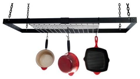 Advantage Components Expandable Black Rectangle Pot Rack contemporary-pot-racks