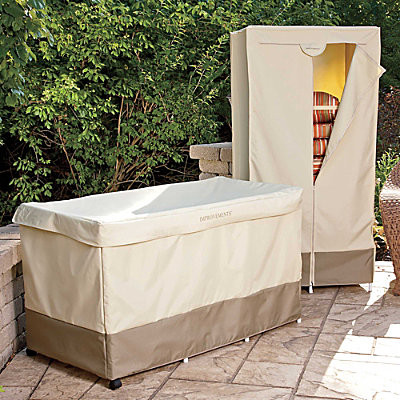 Outdoor Cushion Storage Bin with Cover Contemporary