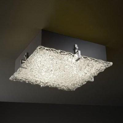 Justice Design Group Veneto Luce GLA-5557-LACE-NCKL Clips 16 in. Square Flush-mo modern-bathroom-vanity-lighting
