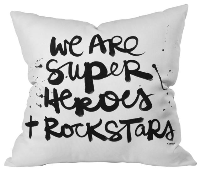 Kal Barteski Superheroes Throw Pillow, 26x26x7 eclectic-decorative-pillows