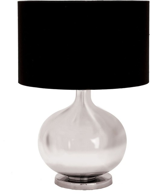 Designers Lamps - Glass Metal Table Lamp 23in.H traditional-table-lamps