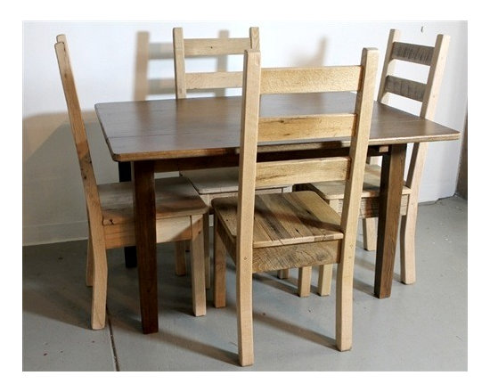 Solid Oak Dining Chair From Salvaged Wood - Made by http://www.ecustomfinishes.com