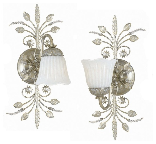 Crystorama Primrose Wall Sconce X-LS-1474 - Tropical - Wall Sconces - by South Shore Decorating