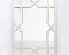 White Lacquer Trellis Mirror contemporary-wall-mirrors
