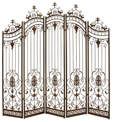 Cadence Metal Floor Screen Traditional Screens And