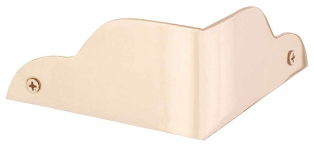 Corner Guards Bright Solid Brass, 1 15/16 in. H Corner Guard 90 degree angle transitional-hardware
