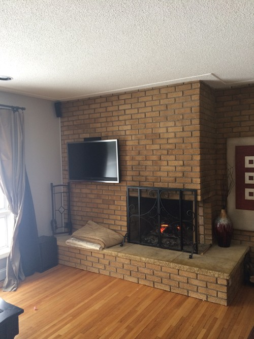 50 39 s floor to ceiling fireplace update - Floor to ceiling fireplace ...