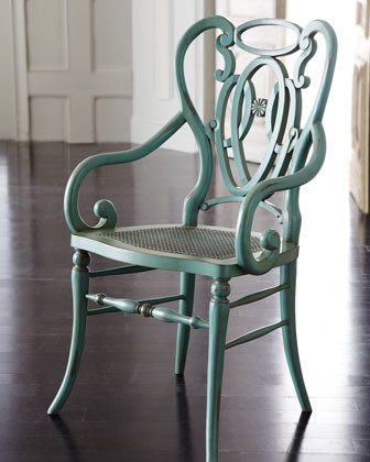 Green Scroll Armchair traditional-accent-chairs