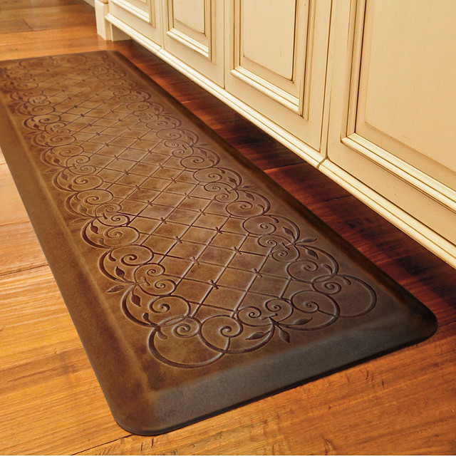 trellis scroll anti fatigue comfort mat traditional home fencing and