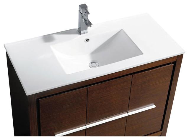 Wenge Vanity Units For Bathroom : Brown Modern Bathroom Vanities