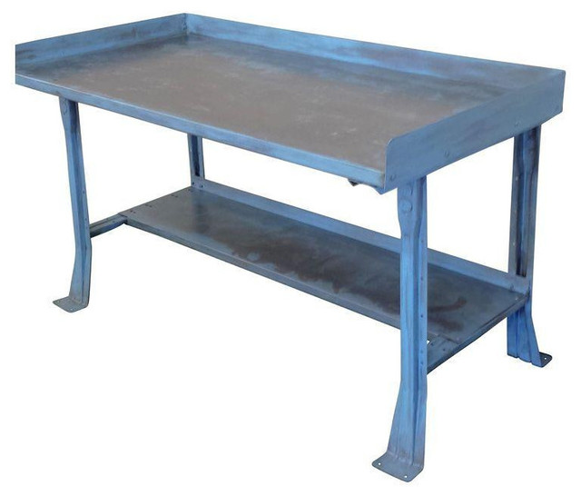 Mid Century Industrial Steel Work Bench Table Desk 1 095 Est Retail 595 O