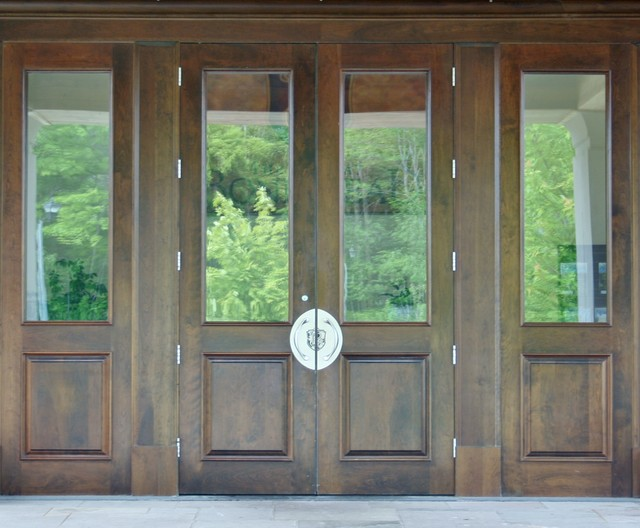 Double 2 Panel Glass Door With Matching Sidelites