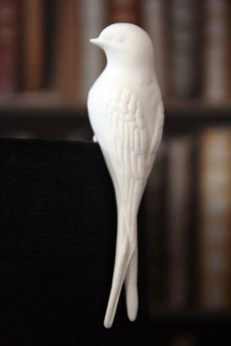 Bone China Swallow Bird Lampshade Decoration contemporary-home-decor