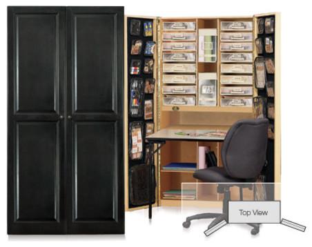 The CraftBox : Black Raised Panel - Contemporary - Desks And Hutches ...
