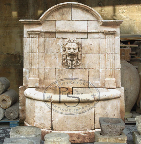 Antique Stone Fountains Wall Fountains