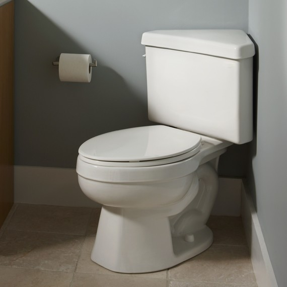 American Standard Titan Pro Right Height Elongated Triangle Toilet  toilets
