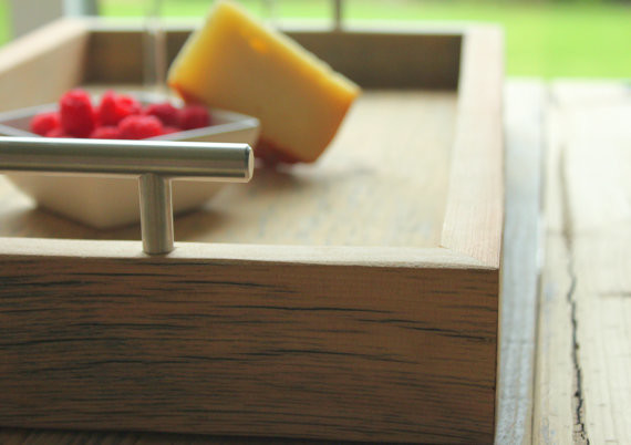 Reclaimed Wood Tray modern-food-containers-and-storage