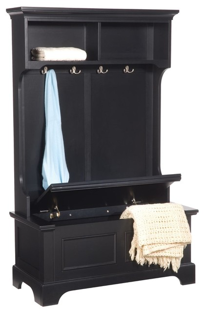 bedford hall tree and storage bench traditional hall trees by amazon. Black Bedroom Furniture Sets. Home Design Ideas