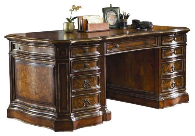 Hooker furniture beladora executive desk 698 10 463 ends for Beladora bedroom set