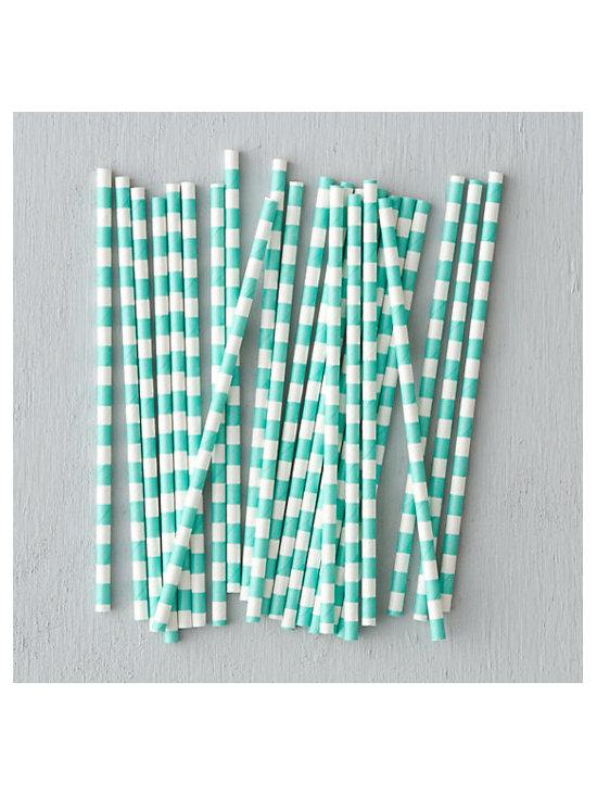 Wide Stripe Straws, Set of 25 -