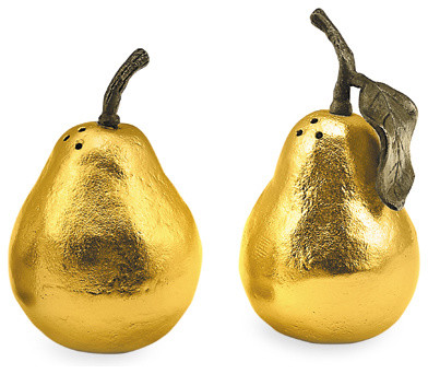 Pear Salt & Pepper Shakers modern-food-containers-and-storage