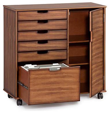 Mobile 6-Drawer Wide Storage Cart - Contemporary - Storage ...