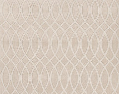 Solid Pattern Ivory /White Wool Woven Rug - MT03 modern rugs