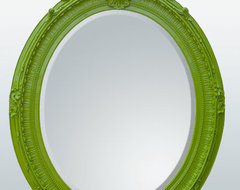 Bright Green Oval Wall Mirror contemporary-wall-mirrors