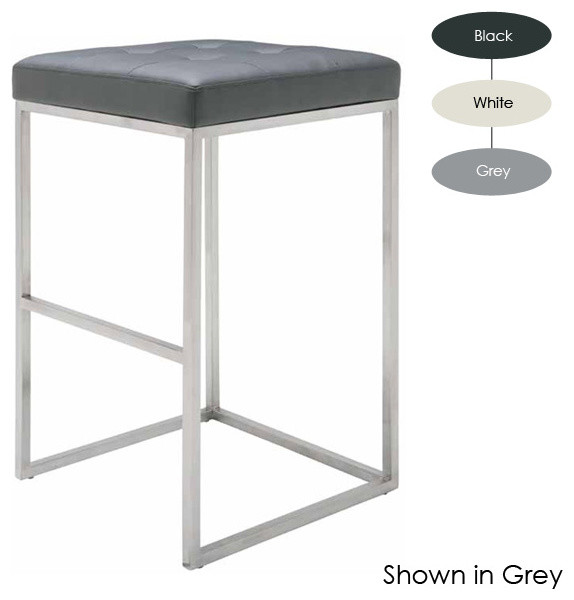 Chi Bar Stool Set Of 2 White Modern Bar Stools And
