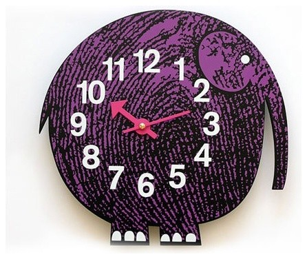 Zoo Timers Wall Clocks - Elihu the Elephant eclectic clocks