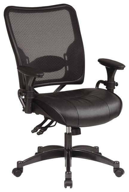 Professional Dual Function Ergonomic Air Grid Office Chair with Leather Seat modern-office-chairs