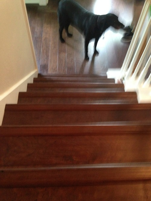 Bull Nose Hardwood Pieces On Stairs Raised Or Flush