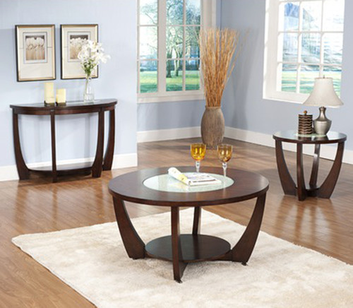 Steve Silver Rafael 3-Piece Round Coffee Table Set In