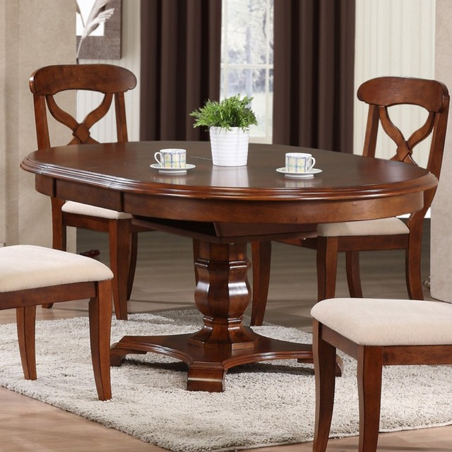 Sunset Trading Andrews Pedestal Oval Dining Table Modern Dining Tables