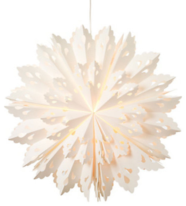 Paper Snowflake Lantern modern holiday decorations