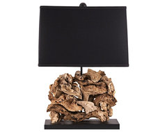 Contemporary Lamp Works Driftwood Table Lamp contemporary table lamps