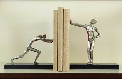 Blockhead Bookends - Pair contemporary-bookends