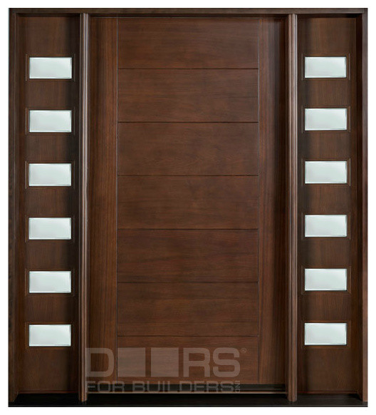 Modern wooden main single door design for Office main door design